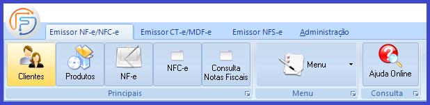 Como emitir a Nota Fiscal Eletrônica - NFe? menu clientes
