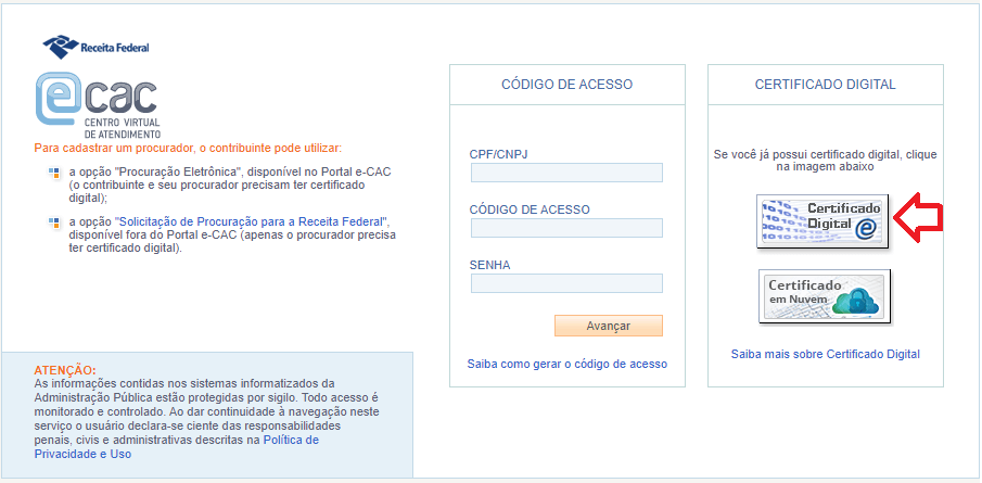 Como configurar seu certificado digital no ERP Gerencial - cac