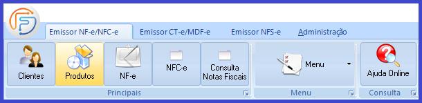 Como emitir a Nota Fiscal Eletrônica - NFe? menu produto